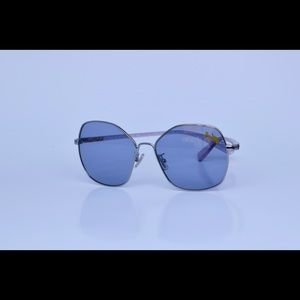 Coach 56mm Sunglasses Square Metal Blue New Tags
